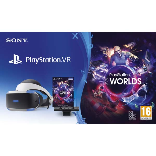 Sony PlayStation VR V2 + Sony PlayStation 4 Camera + VR Worlds